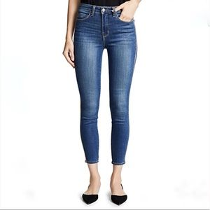 L'AGENCE Margot Gold Stripe Skinny High Rise Jean